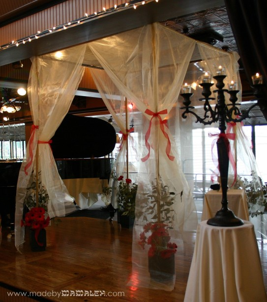 Organza and PVC Jewish wedding canopy