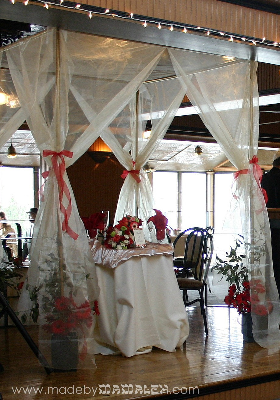 Organza and PVC Jewish wedding canopy & Jewish wedding | madebymamaleh