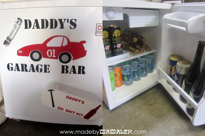 Daddy's Garage Bar Fridge