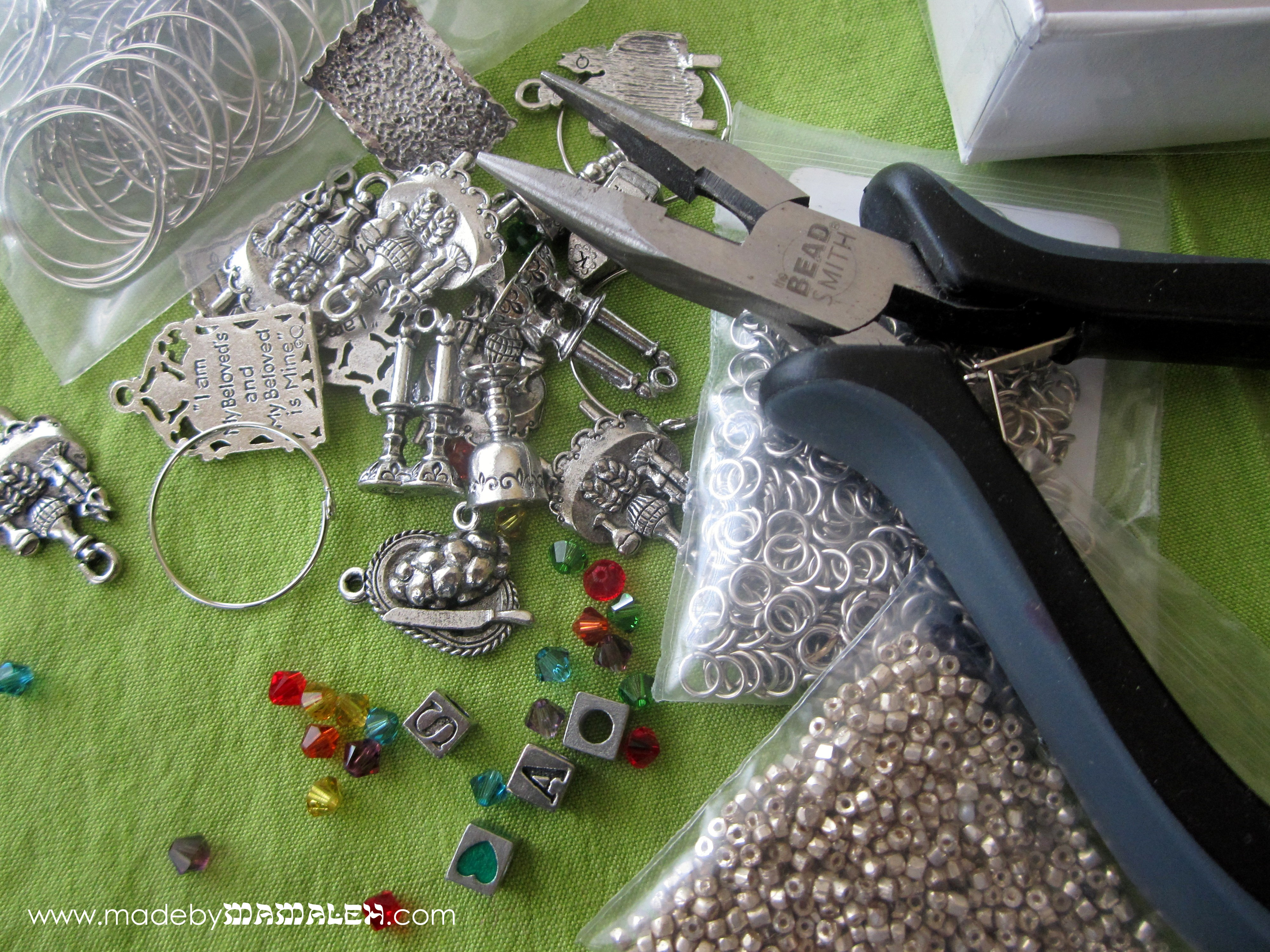Supplies needed for Jewish wine charms
