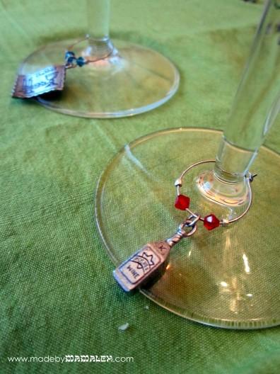 Jewish Wine Charms
