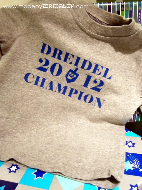 Dreidel Champion 2012 t-shirt