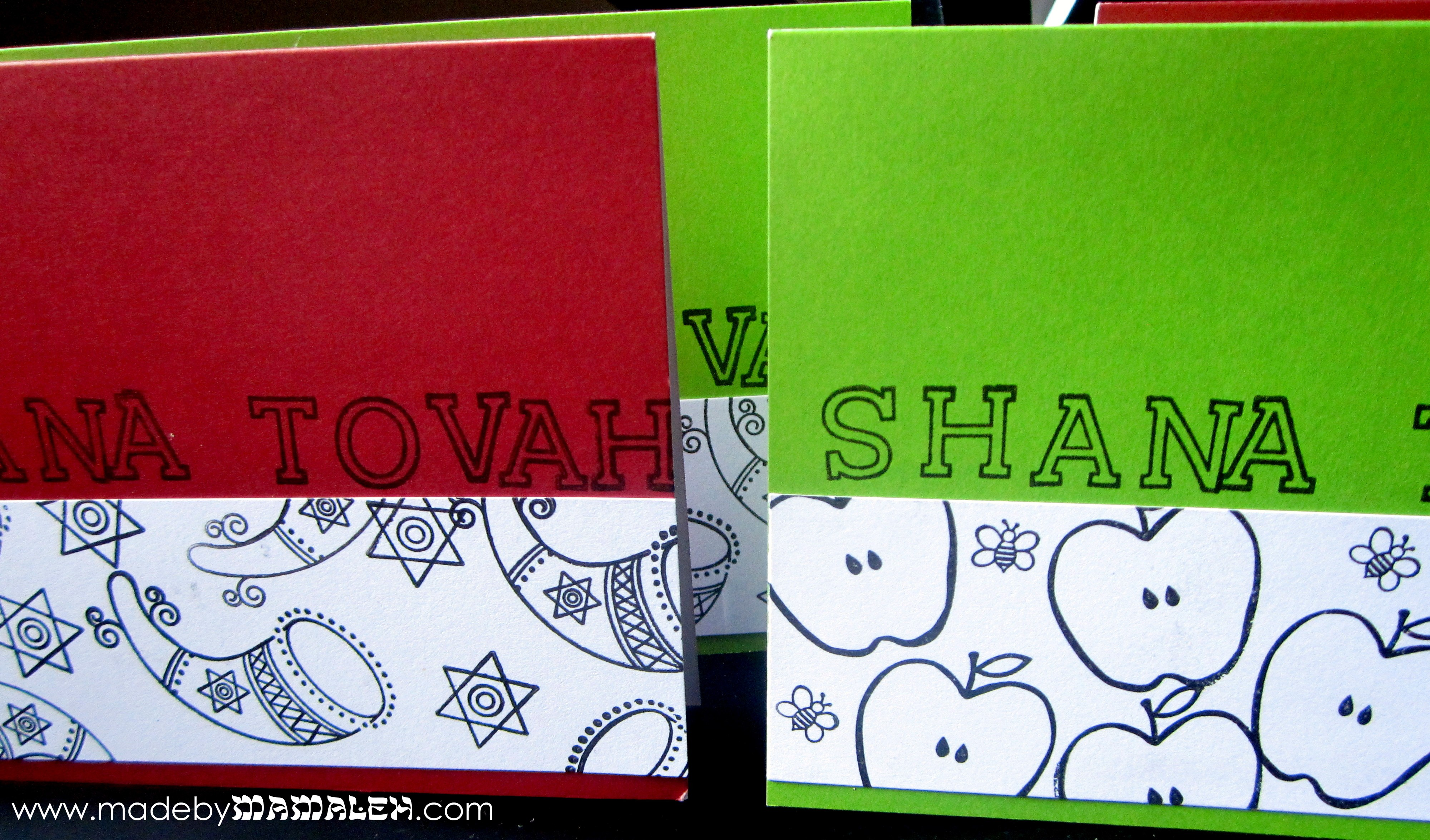 diy jewish new year cards