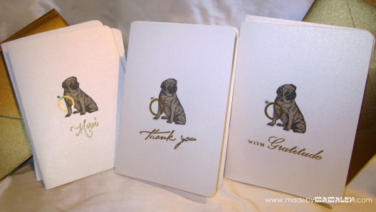 Handmade Pug Thank You cards madebymamaleh.com
