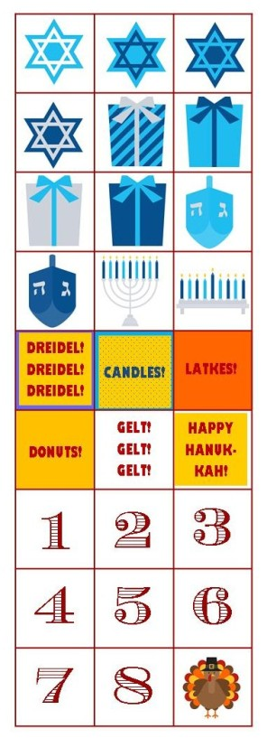Printable Hanukkah Stickers 2013