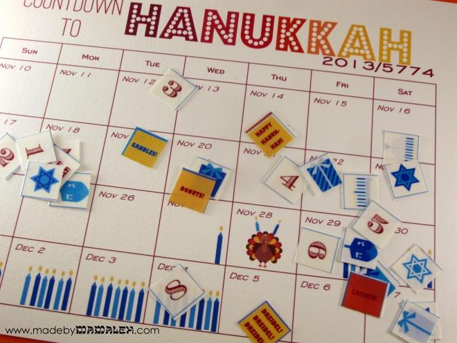 2013 Hanukkah Countdown Calendar