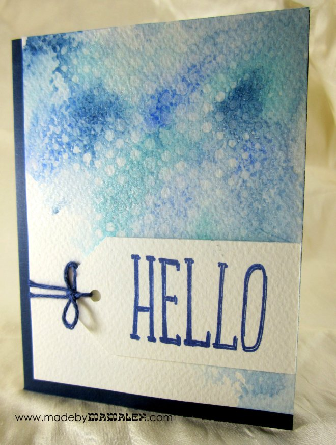 Watercolor card madebymamaleh.com