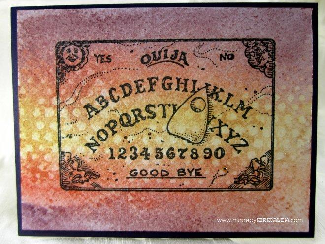 Ouija Board Watercolor card madebymamaleh.com