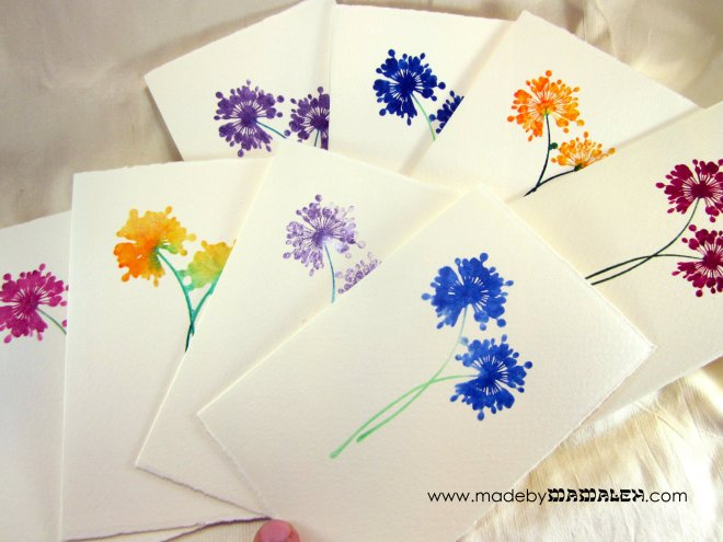 Watercolor cards madebymamaleh