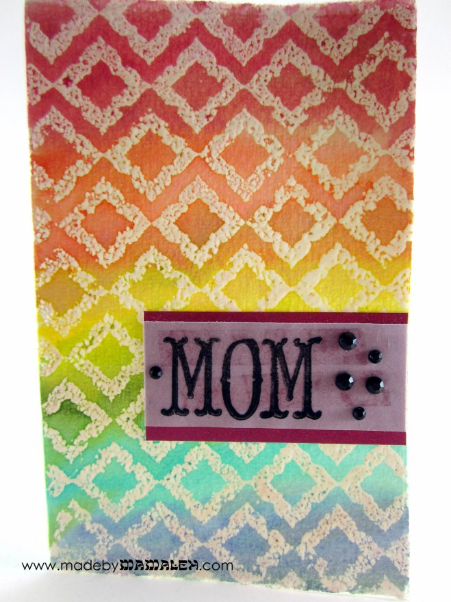 Watercolor Mother's Day card madebymamaleh