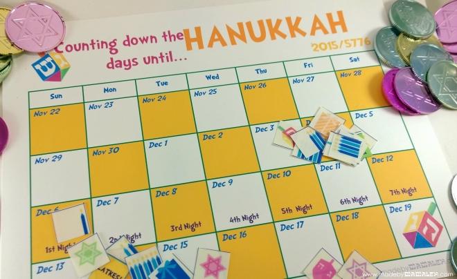 Hanukkah Countdown Calendar 2015