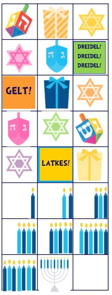 Hanukkah Stickers for 2015 Countdown Calendar