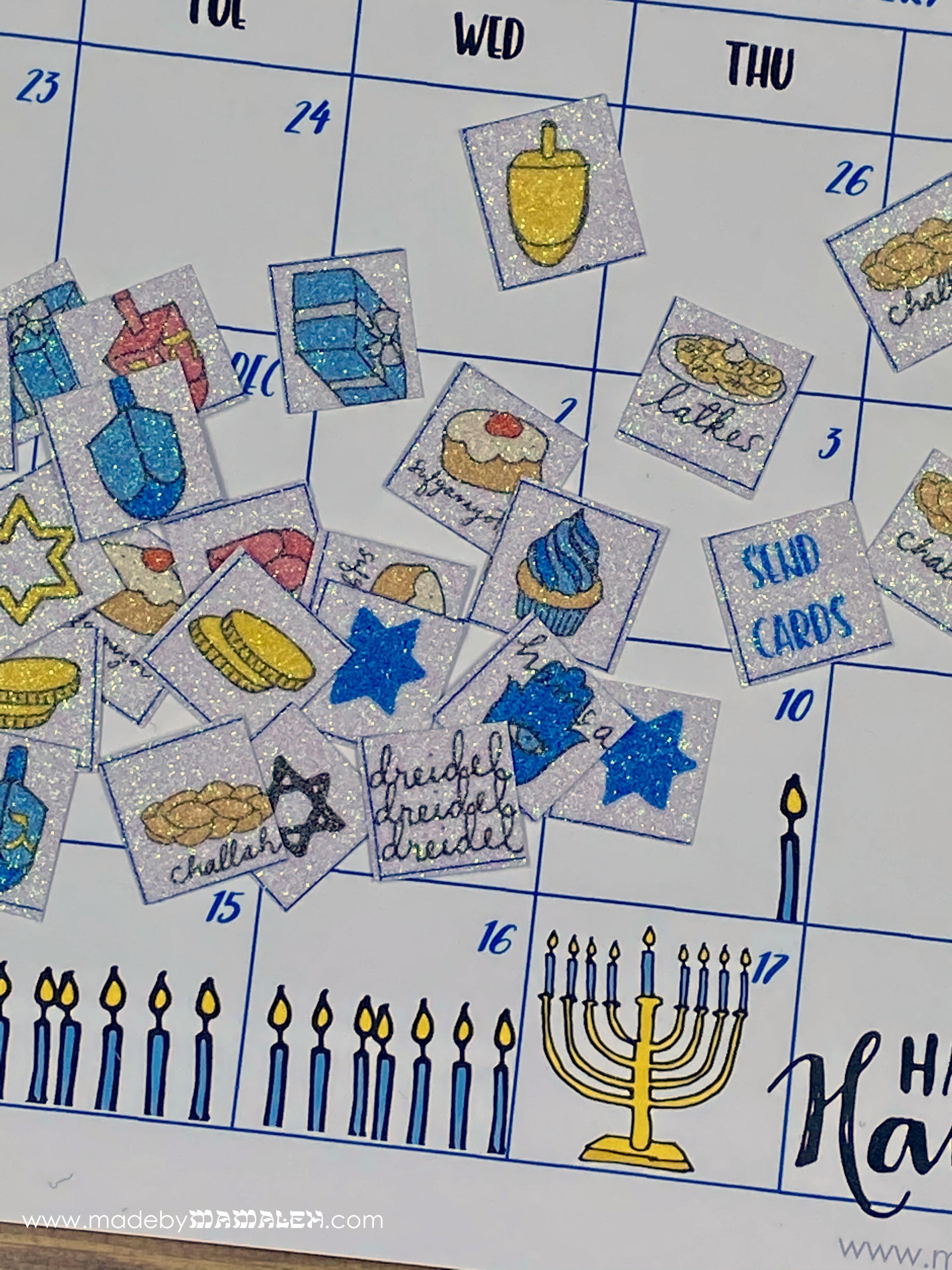 Hanukkah 2020 Countdown Calendar